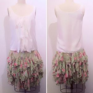 Ralph Lauren ruffle skirt with elastic waist